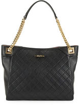 Calvin Klein Diamond-Quilted Leather Tote