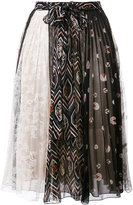 Giambattista Valli patch print pleated skirt