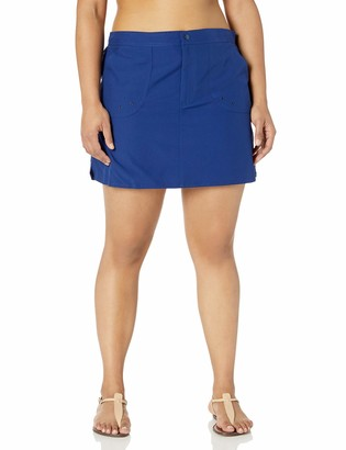 Maxine Of Hollywood Women's Solid Woven Boardskirt