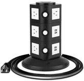 KEBAINA Power Strip Surge Protector Power Socket Strip - Black