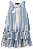Trixxi Striped Layered Ruffle Dress (Big Girls)