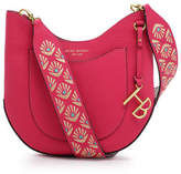 Henri Bendel West 57th Mini Crossbody Hobo with Embroidered Bag Strap