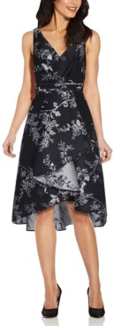 Adrianna Papell High-Low Mikado Dress