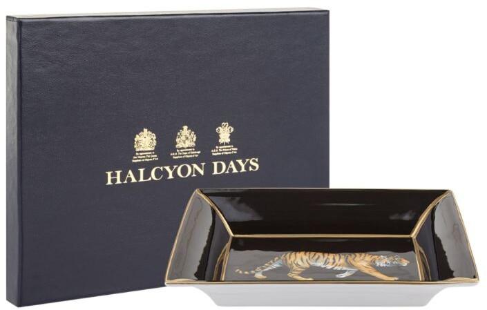 Halcyon Days Tiger Trinket Tray