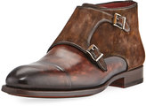 Magnanni Leather Double-Monk Boot