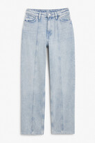 Thumbnail for your product : Monki Bella acid-wash jeans