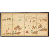 Oriental Furniture Asian Decor and Gifts, 36 by 72-Inch Crossing Heaven Oriental Brush Art Wall Screen Painting
