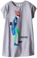 Moschino Kids Sunglasses Woman Print Sweatshirt Dress (Little Kids/Big Kids)