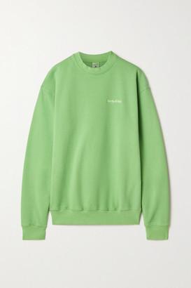 Sporty & Rich Embroidered Cotton-jersey Sweatshirt - Light green