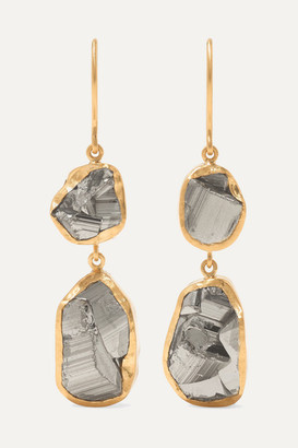 Pippa Small 18-karat Gold Pyrite Earrings