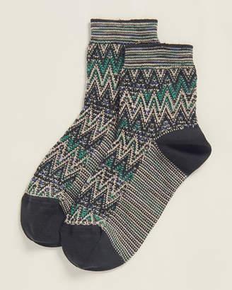 Missoni Green Multi-Line Socks