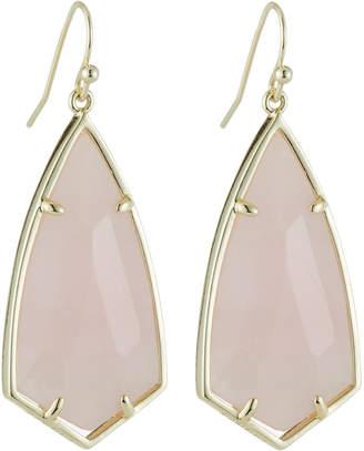Kendra Scott Carla Statement Earrings - Rose Quartz