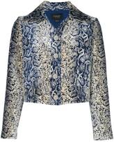 Giambattista Valli python print cropped jacket