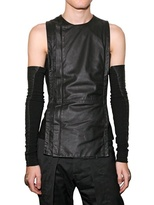 Gareth Pugh Nappa Zipped Vest