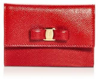 Salvatore Ferragamo Vara Leather Card Case