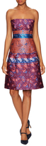 Mary Katrantzou Kelly Jacquard Bandeau A Line Dress