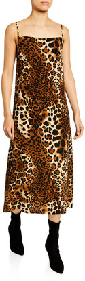Nightcap Clothing Leopard-Print Midi Slip Dress