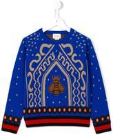 Gucci Kids bee intarsia jumper