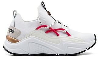Roberto Cavalli Sport Leather-Blend Sock Sneakers
