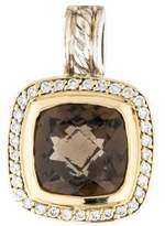 David Yurman Two-Tone Smoky Quartz & Diamond Albion Pendant