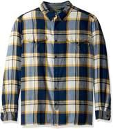 Woolrich Men's Stone Rapids Organic Cotton Yarn-dye Flannel Shirt, -, Extra Large