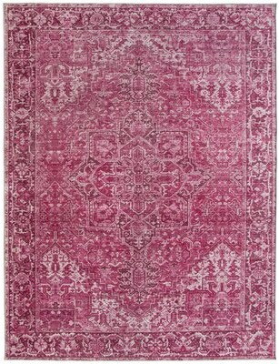 "World Menagerie Southmont Oriental Flatweave Vintage Distressed Traditional Berry Area Rug Rug Size: Rectangle 7'6"" x 9'6"""