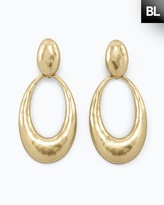 Chico's Black Label Gold Pendant Earring