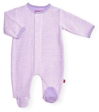 Magnetic Me Baby Girl's Unicorn Dreams Stripe Footie