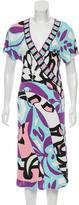 Emilio Pucci Geometric Print Midi Dress