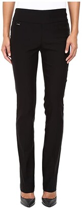 Lisette L Montreal Solid Magical Lycra True Straight (Black) Women's Casual Pants