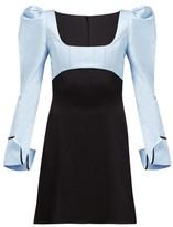 Ellery Heritage Puff Sleeve Dress - Womens - Black Blue