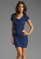 Boulee Blake Short Sleeve Cut Out Dress