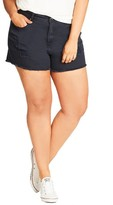 City Chic Plus Size Women's Cutoff Shorts