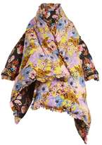 Preen by Thornton Bregazzi Eiderdown floral-print asymmetric coat