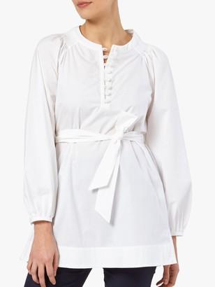 The Fold Corsica Tunic Top, White