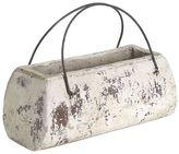 Casa Uno Rustic Rectangular Bag Planter, White