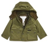 Burberry Infant Boy's 'Lockie' Hooded Field Jacket With Quilted Liner