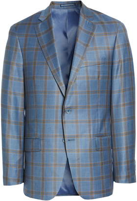 Hart Schaffner Marx New York Classic Fit Plaid Wool Sport Coat
