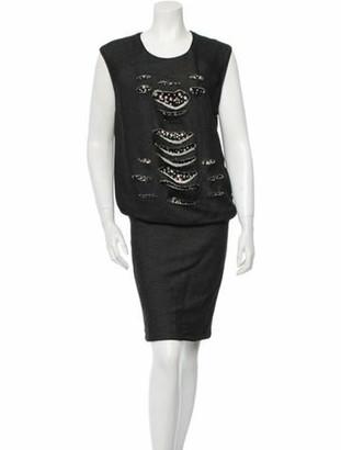 Jay Ahr Embellished Dress w/ Tags Grey