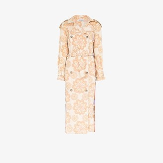 Rave Review Rue floral trench coat