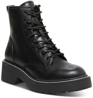 Madden-Girl Carra Lace-Up Lug Sole Combat Boots
