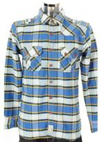 Two Stoned Flame Thrower Shirt Blue Check