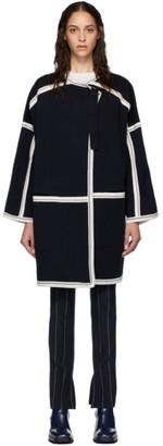 Chloé Navy Compact Wool Coat