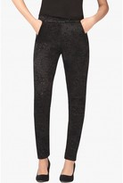 Select Fashion Fashion Womens Black Glitter Lace Print Jegging - size 8