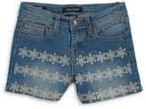 Vigoss Girls 2-6x Girls Floral Embroidered Jean Shorts