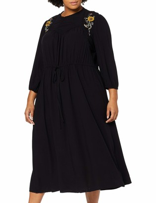 Junarose Women's Jrpalomia 3/4 Sleeve Midi Dress-K
