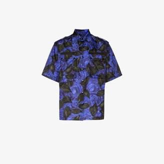 Prada Floral print zip pocket shirt