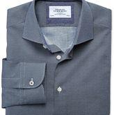 Charles Tyrwhitt Slim fit semi-cutaway collar business casual circle print navy shirt
