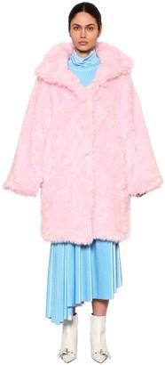 Balenciaga Oversized Faux Fur Coat