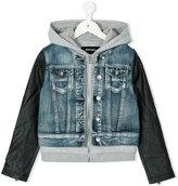Diesel hooded denim jacket - kids - Cotton/Rayon - 6 yrs